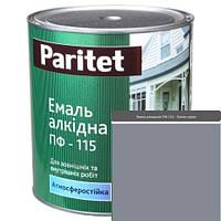 Краска эмали ТМ Paritet алкидная ПФ-115 0,9 кг темно-серая