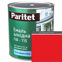 Краска эмали ТМ Paritet алкидная ПФ-115 0,9 кг красная