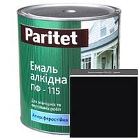 Краска эмали ТМ Paritet алкидная ПФ-115 0,9 кг черная