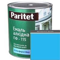 Краска эмали ТМ Paritet алкидная ПФ-115 0,9 кг  ярко-голубая