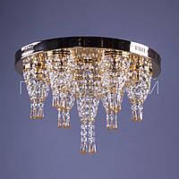 Хрустальная люстра с LED подсветкой на пульте управления P5-E0984/7/FG+AM