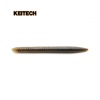 "Силиконовая приманка   Keitech Salty Core Stick 5.5"" 207 Green Pumpkin PP. Blue FLK."