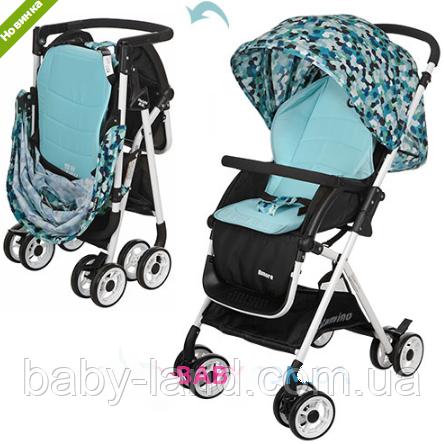 Коляска детская прогулочная с корзиной HC300-BLUE голубой-черный