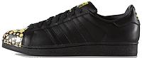 Женские кроссовки Adidas Superstar Pharrell Supershell Black (Адидас Суперстар) черные