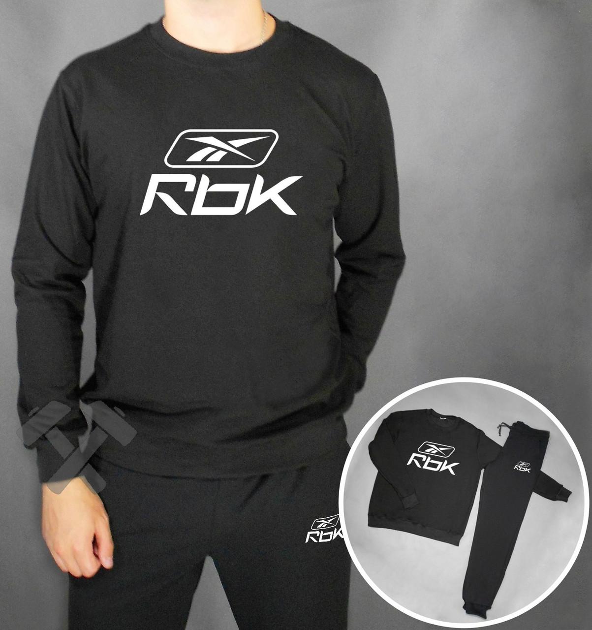 Спортивный костюм RBK черного цвета