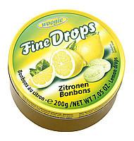 Льодяники (цукерки) Woogie Fine Drops (дрібні краплі) лимонний вкусАвстрия 200г