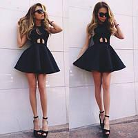 Короткое  платье приталенное пышный низ