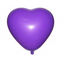 Шары воздушные латексные Gemar пастель Сердце фиолетовое 6'' 16 см