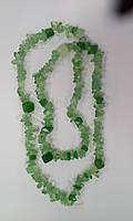 Турмалин зеленый, крошка крупная Бусы  90см