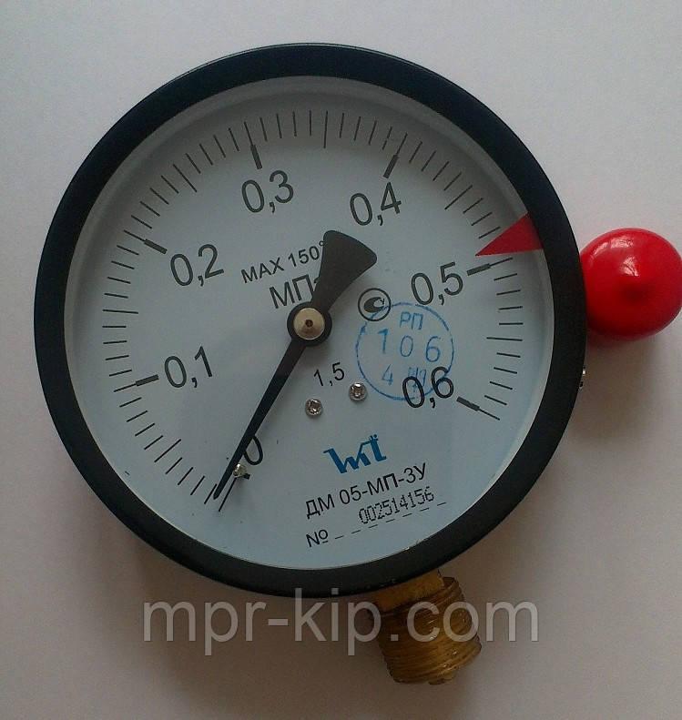 Манометр ДМ 05-МП-3У (Диаметр 100 мм; кл. точности 1,5) 0,6 МПа ТУ.У 33.2 - 14307481-031:2005