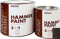 Краска специального назначения ТМ Biodur молотковая 117 коричневая 0,7 л