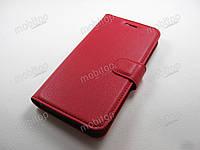 Кожаный чехол книжка Doogee HomTom HT16 (красный)