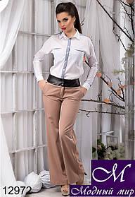 Стильные женские бежевые брюки клеш (р.S, M, L, XL) арт. 12972