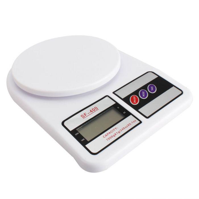 Ваги кухонні SF-400 (7 кг) + батарейки точні кухонні ваги для зважування