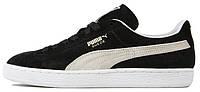 Мужские кроссовки Puma Suede Classic Black White (Пума) черные