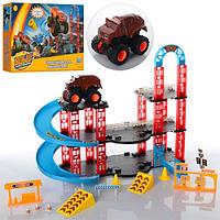 Игровой набор парковка гараж Вспыш и Чудо машинки 7788-1