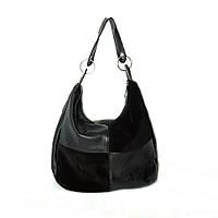Женская кожаная сумка 14HFZ Черная