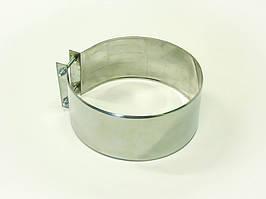Хомут монтажный для дымохода из нержавеющей стали (широкий) d 100мм s 0,5мм
