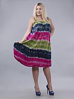 Платье свободное (ламбада) салатовое, синее, малиновое,  до 60-го размера