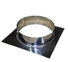 Розетта для дымохода из нержавеющей стали d 110/210мм s 0,5/0,5мм