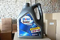 Масло моторное полусинтетическое Mobil Super 2000 10w-40 (4 литра)