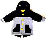 """Жакет на подкладке с капюшоном """"Ворона"""" 110"""