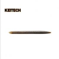 """Силиконовая приманка  Keitech Salty Core Stick 4.5"""" 207 Green Pumpkin PP. Blue FLK"""