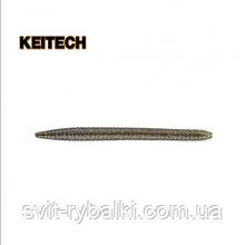 """Силиконовая приманка  Keitech Salty Core Stick 4.5"""" 214 Green Pumpkin Candy"""
