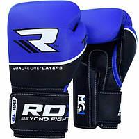 Боксерские перчатки RDX Quad Kore Blue 10 ун.
