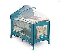 Детская кровать манеж Milly Mally Mirage Delux Blue Bird  Польша