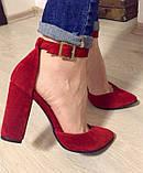Mante! Красивые женские красные кожаные босоножки туфли каблук 10 см весна лето осень, фото 10