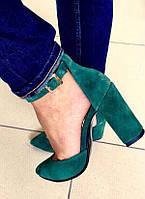 Mante! Красивые женские изумрудные замшевые кожа босоножки туфли каблук 10 см весна лето осень, фото 1