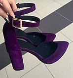Mante! Красивые женские замшевые черные босоножки туфли каблук 10 см весна лето осень, фото 10