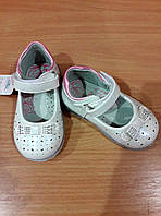 """Туфли """"Бантик"""" для девочки, белые, лак"""