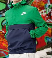 Мужской анорак зеленый 3093