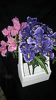 Искусственные цветы - ирисы, выс. 57 см., 20 шт. в упаковке, 41 гр.