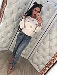 Женские красивые джинсы с жемчугом, фото 2