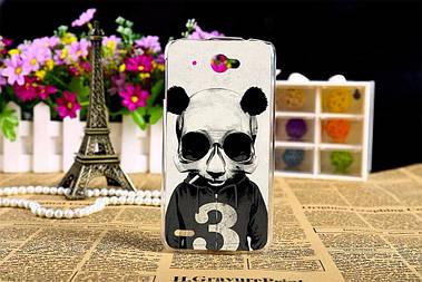 Чехол силиконовый бампер для Lenovo S920 с рисунком панда с цифрой три