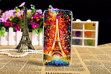 Чехол силиконовый бампер для Lenovo S920 с рисунком эйфелева башня картина
