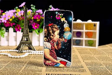 Чехол для Lenovo S920 с картиной девочка выдувает планеты