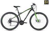 "Велосипед Spelli 27,5"" SX-5200 650B 2017 черно-зеленый"