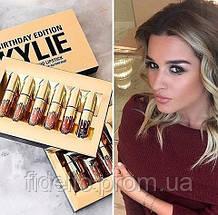 Помада Kylie Birthday Edition Gold набор 6 шт, Хит 2017 года, фото 3