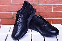 Кроссовки мужские низкие черные Reebook Classic Full Black (реплика), фото 1