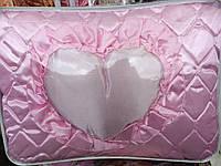 Атласное двуспальное покрывало+3 подушки