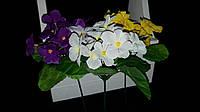Тканевые фиалочки, разные цвета, выс. 23 см., 100 шт. в упаковке, 4.95 гр.