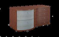 Комод из гнутых фасадов, уникальный, размером 150х66/47х80 см Марсель