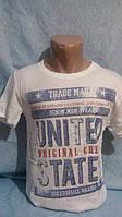 Мужская футболка белая UNITED STATES