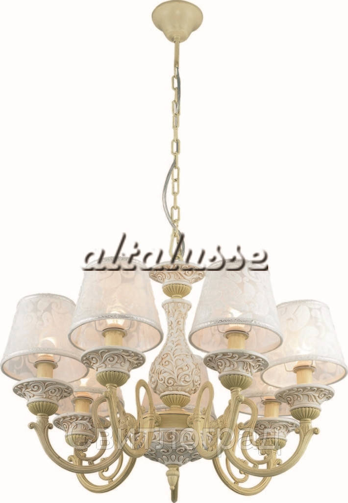 Люстра Классика  c Абажурами  Altalusse INL-6099P-07 Ivory White