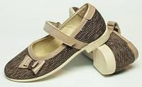 Балетки детские кожаные с перепонкой, летняя детская обувь от производителя модель ДЖ-5006-1