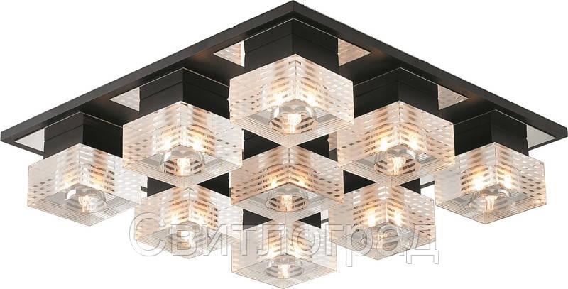 Светильник Потолочный Деревянный    Altalusse INL-9152C-9 Chrome & Wenge